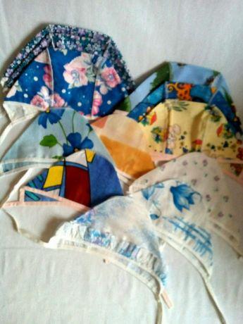 набор для новорожденных (чепчики + шапочки)