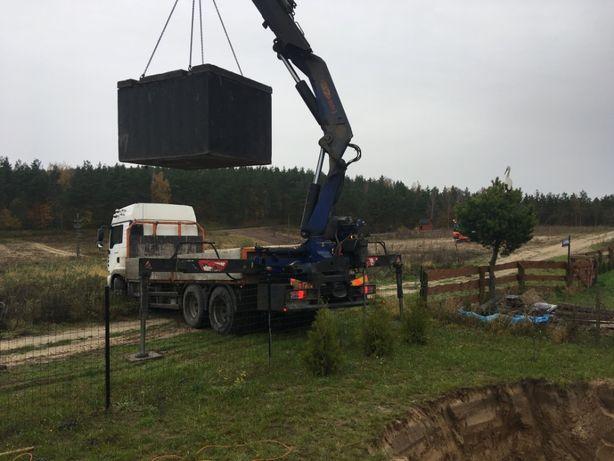 Szambo betonowe - sprzedaż, transport, wykop, montaż, podłączenie