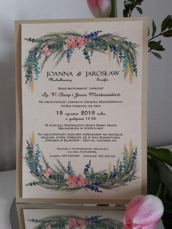 Zaproszenia ślubne / Promocja / Warszawa /