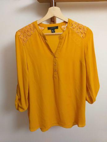 Camisa/Blusa amarela torrada (portes já incluídos no preço)