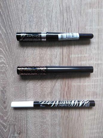 2 eyelinery + flamaster do brwi