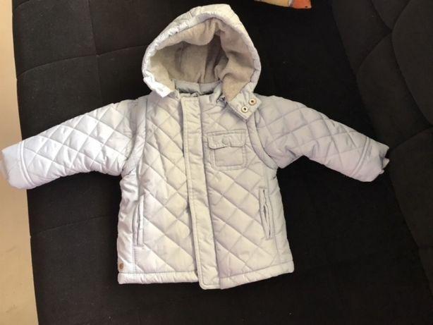 Chicco nowa kurtka kamizelka pikowana błękit 74 cm., przejściowa