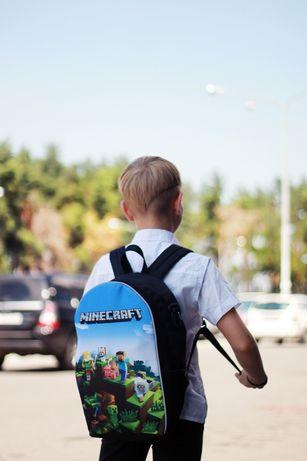 Рюкзак ранец школьный детский Майнкрафт Minecraft розница опт
