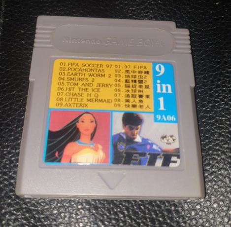 Game Boy 9in1 Asterix Earth Worm Jim Fifa Pocahontas i inne
