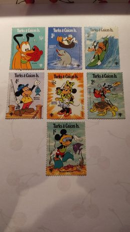 Znaczki Disney niepełne serie
