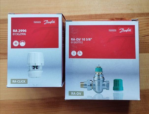 DANFOSS..zawór termostatyczny + głowica RA-DV 10 3/8..nowy komplet