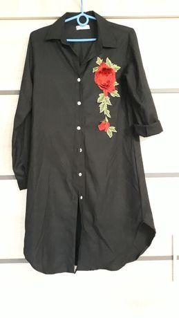 Koszula/tunika z różą