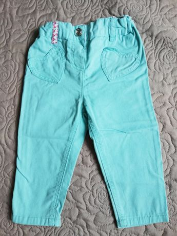 Spodnie nowe miętowe74cm