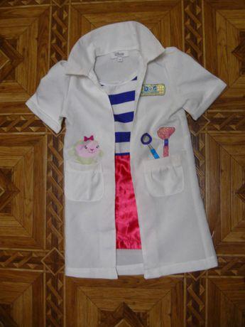 платье халатик костюм доктора Плюшевой продажа на 2-3 года