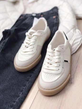 Комбинированные кожанные кросовки Zara