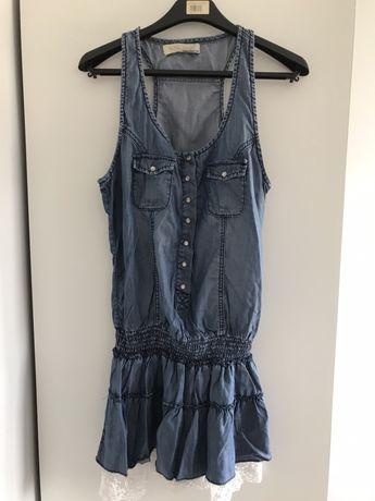 Sukienka w kolorze jeansu mini S 36 jak nowa