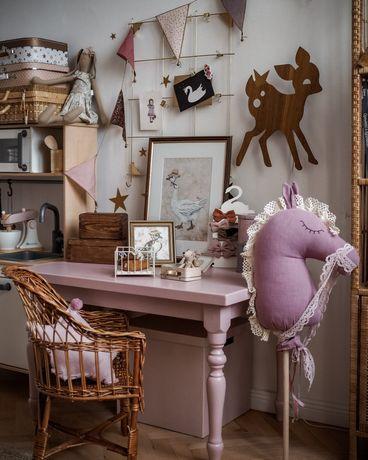 Stolik biurko drewniane vintage retro