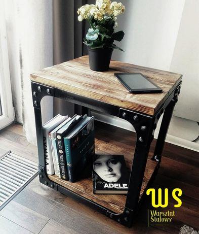 Stolik kawowy LOFT stolik loft industrial rustykalny WS