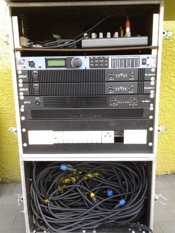 Zestaw nagłośnieniowy STX statywy oświetlenie