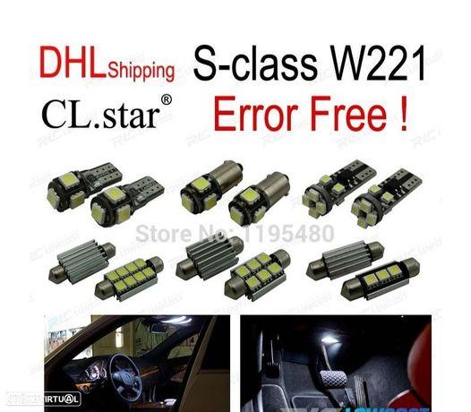 KIT COMPLETO DE 26 LÂMPADAS LED INTERIOR PARA MERCEDES-BENZ CLASE S W221 S500 S550 S600 S63AMG S65A