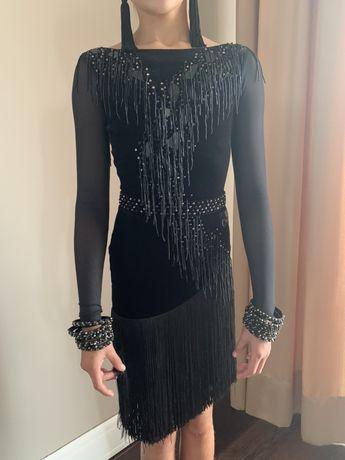 Плаття платье латина для бальних танців Назар Хіцяк NAZAR 146-156см