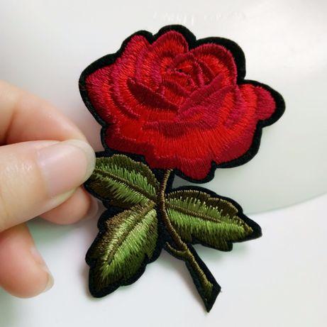 Róża termo aplikacja czerwona