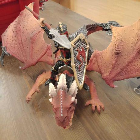 Дракон и воины фигурки (фигурины). Игровые персонажи- 6 единиц.