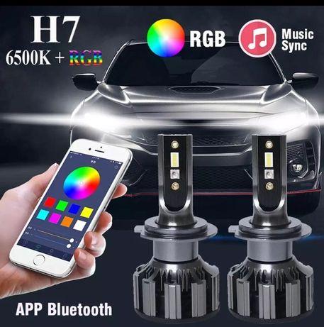 Kit led H7 RGB Bluetooth 80w
