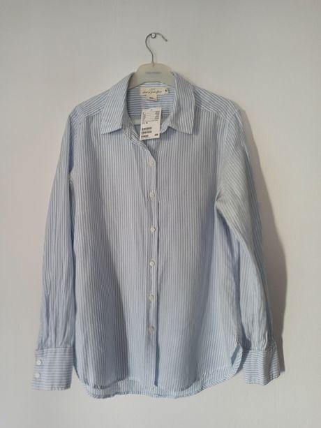 Koszula bluzka z długim rękawem 36 S w paski