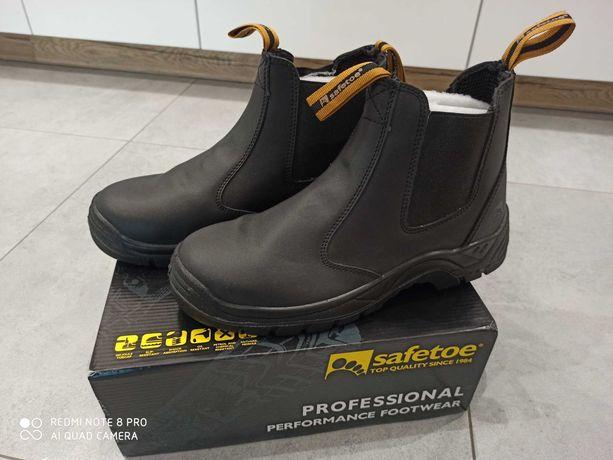 Robocze skórzane buty męskie r. 45