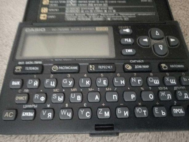 Casio электронные записные книги, модель 490 банк данных