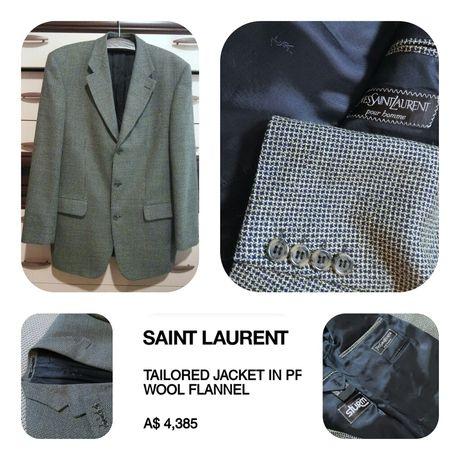 Yves Saint Laurent люксовый блейзер -пиджак 100% вирджинская шерсть