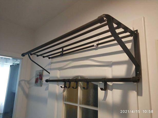 Wieszak półka Fortis Ikea  metalowy jak nowy