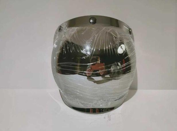 Viseira bolha para capacetes abertos clássico café-racer novo