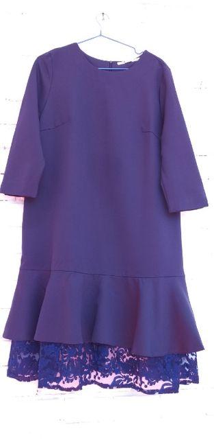 Нарядное, синее платье
