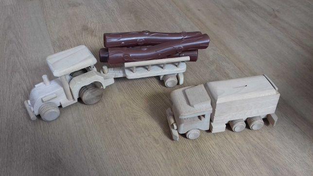 Pierwsze auto samochód z drewna traktor, cieżarówka eko