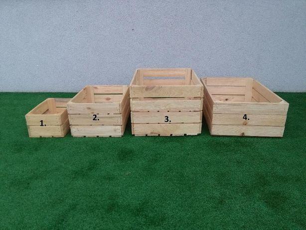 Skrzynki drewniane NOWE - surowe #A01