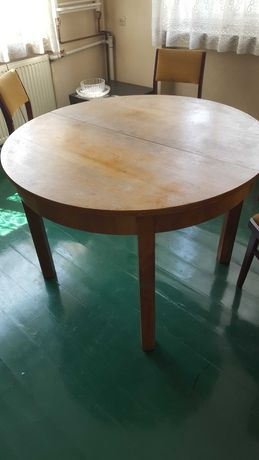 Stół drewniany PRL, Vintage, Retro