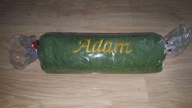 ręcznik z napisem ADAM ok. 140 x 70 cm zielony - idealny na prezent