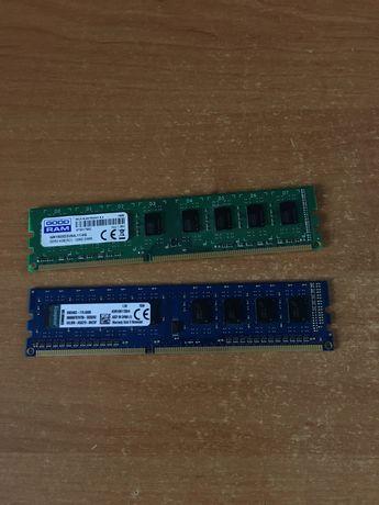 Продам ОЗУ DDR3 4гб (х2) 1660mhz