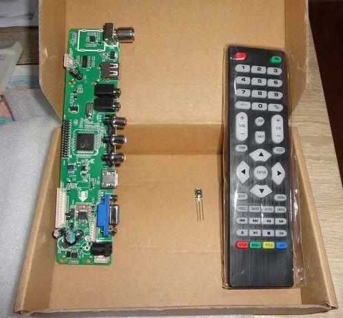 Placa TV reutiliza o LCD do teu Portátil Faça uma TV LCD