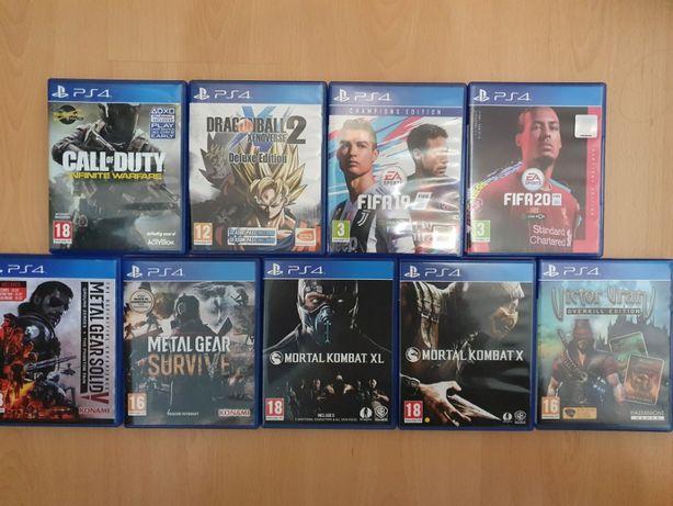 Jogos PlayStation 4 - MetalGearSolid, FIFA, COD, Mortal Kombat, DBZ