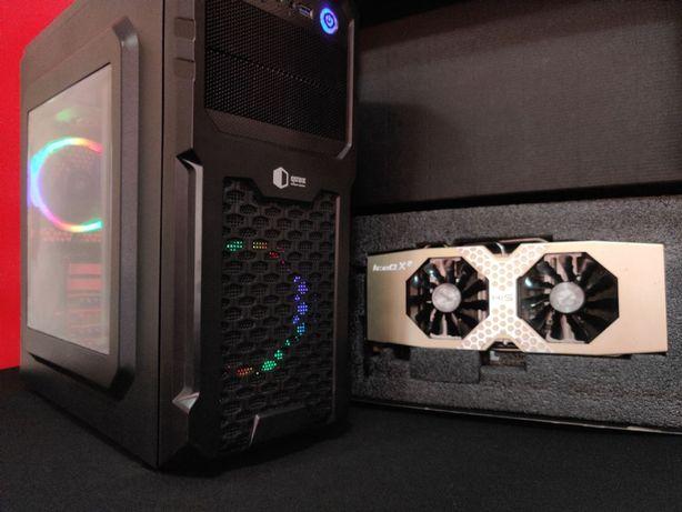 Игровой компьютер пк с X4 3700 mhz + 3 gb видео R9 (1050ti GTX 4GB)