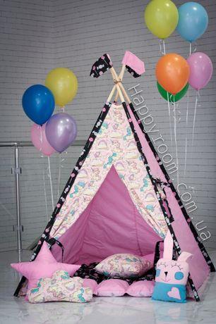 Палатки для детей. Вигвамы. Коврики. Подушки, Корзины для игрушек.