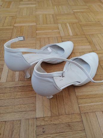 Czółenka, buty, ślubne, białe, rozm. 39