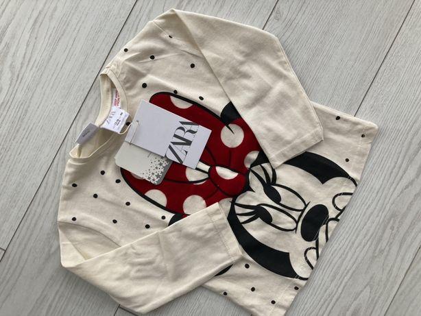 Bluzka 86 Zara minnie nowa 12-18 miediecy