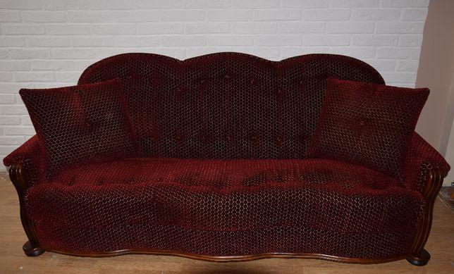 Zestaw wypoczynkowy kanapa + dwa fotele WYGODNE! DĘBOWE! JAK NOWE!