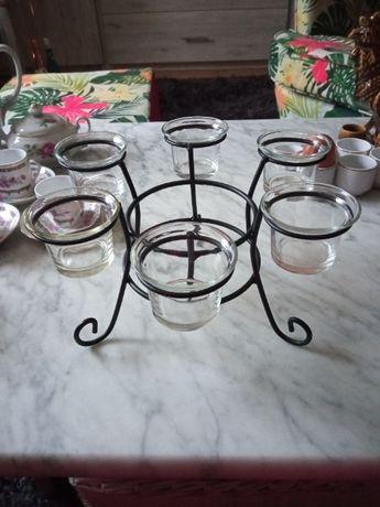 świecznik na sześć podgrzewaczy