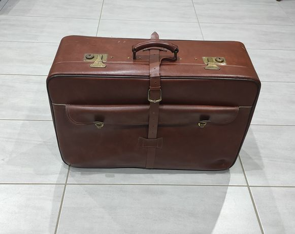 Stara torba podróżna walizka vintage retro PRL