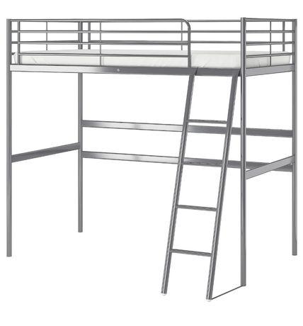 Łóżko metalowe na antresoli