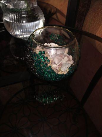Круглый аквариум ваза