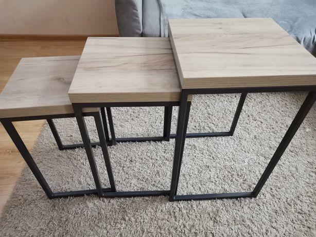Stolik stoliki 3 wsuwane okazja loft