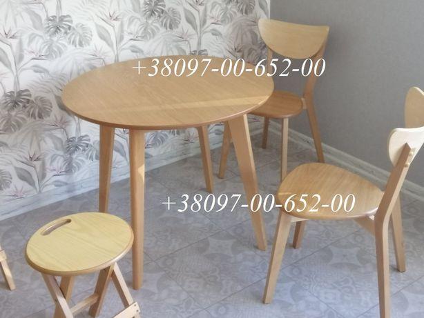 Круглый обеденный стол Бук (есть и Белый) Модерн 90