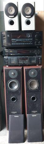 Ampliutuner kolumny CD Onkyo Akai  Pioneer Tonsil Sony Marantz