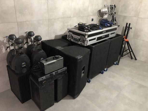 Kompletny zestaw DJ kolumny basowe, 18sound, światła,pioneer djm cdj